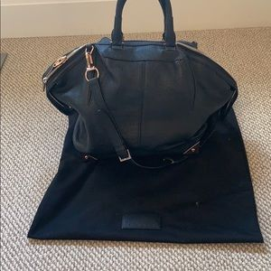 Alexander Wang Leather Bag with Rose Gold Detail